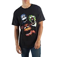 Five Nights at Freddy's Gang Adult Black T-shirt