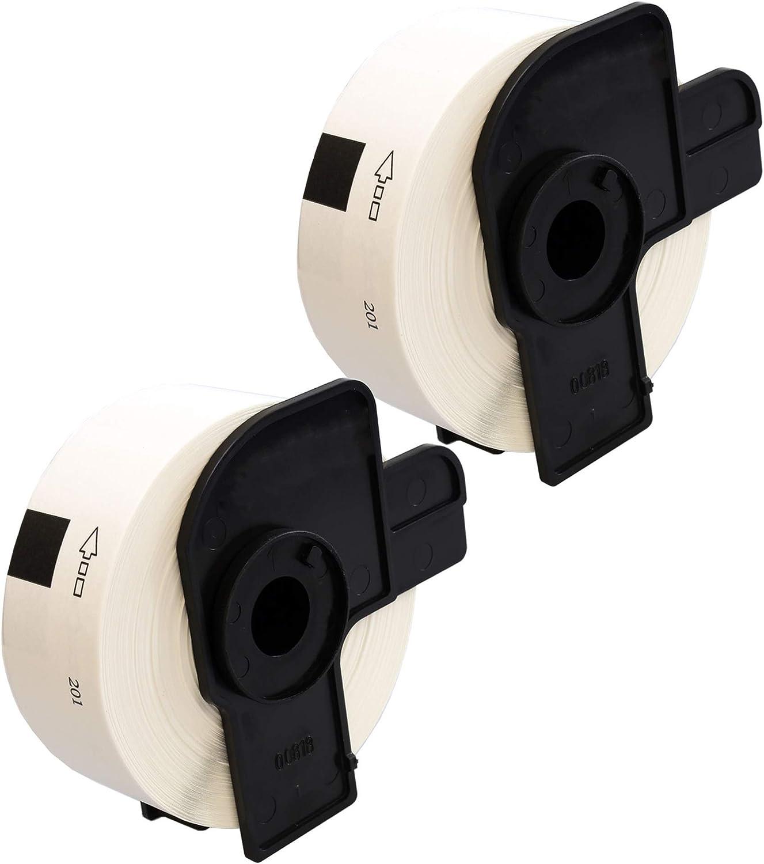 DK11201 400 /étiquettes par rouleau Papier /Étiquettes compatible pour Brother QL-500 QL-550 QL-560 QL-570 QL-700 QL-710W QL-720NW QL-800 QL-810W QL-820NWB QL-1050 QL-1100 QL-1110NWB 29mm x 90mm