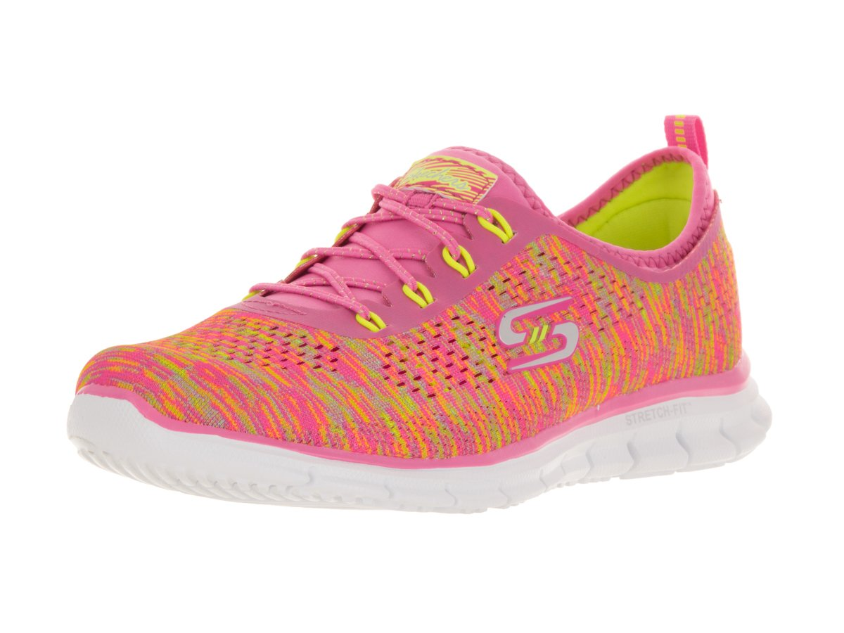 Womens Stretch Fit Glider - Deep Space Training Sneaker Neon Pink/Yellow-NPYL 7.5