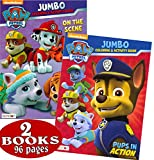 PAW Patrol Coloring and Activity Book Set (2 Books ~ 96 Pages) Chase, Rocky, Marshall, Skye, Zuma, and Rubble