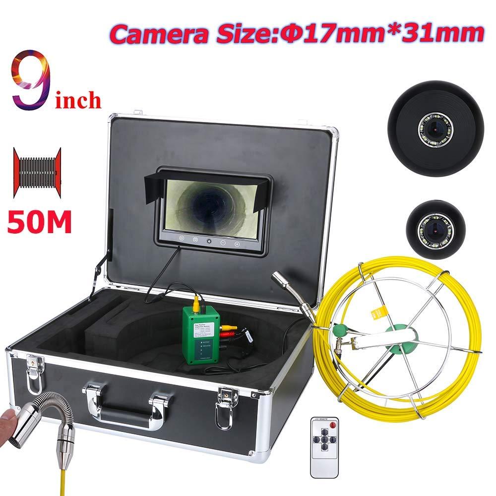 100%本物 9インチ17ミリメートル工業用パイプ下水道検査ビデオカメラip68防水排水システム1000 50M tvlカメラで8ピースledライト,40M 50M B07P8DXJMC 50M B07P8DXJMC 50M, 輸入雑貨ピナコテカ:ac016a32 --- arianechie.dominiotemporario.com