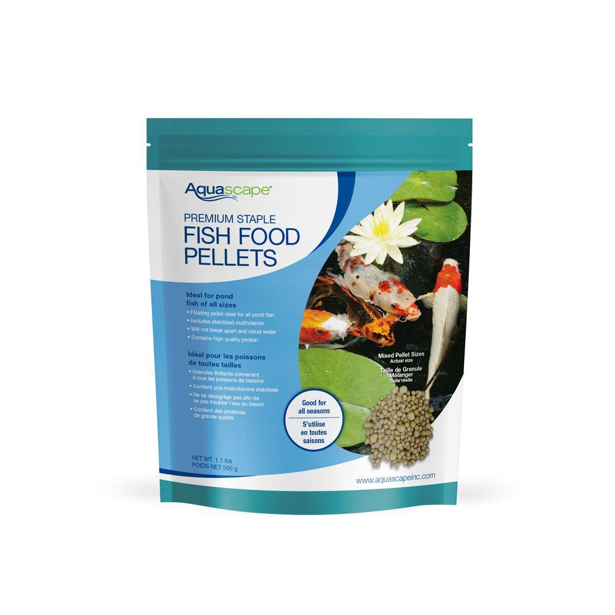 Aquascape Premium Staple Pond and Koi Fish Food, Mixed Pellet Size