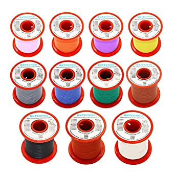Bntechgo 20 gauge silicone wire soft and flexible high temperature resistant highly efficient 20 awg silicone wire 100 strands of copper wire bntechgo 20 gauge silicone wire soft and flexible high temperature resistant highly efficient 20 awg greentooth Gallery
