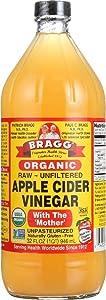 Bragg Organic Apple Cider Vinegar, Raw & Unfiltered, 32 Fl Oz,