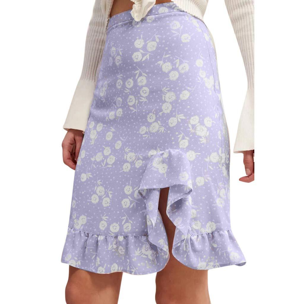 TUDUZ Faldas Mujer Cortas Impresión De Moda Volantes Sandy Beach ...