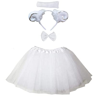 Kirei Sui Kids Costume Tutu Set White Sheep: Clothing