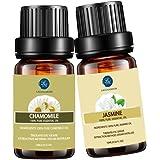 Jasmine Chamomile Essential Oil,10ML Natural Pure Aromatherapy Oils Therapeutic Grade, Value 2 Pack