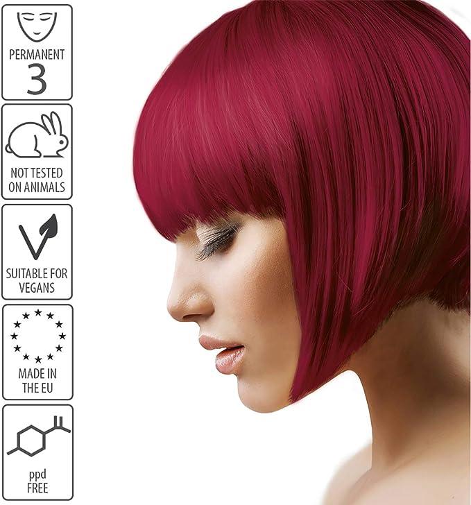 Smart Beauty Tinte de Pelo Permanente, Larga Duración Moda Color con Nutritivo Nio-Active Plex Tratamiento Capilar, 150ML - Terciopelo Rojo, 150 ...
