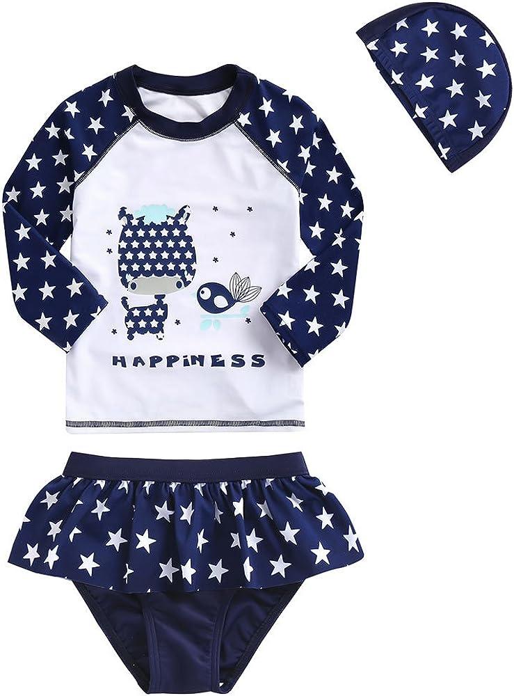 3-7y Vivobiniya Kids swimsuits Girl two-piece swimsuits Tankinis set UPF50