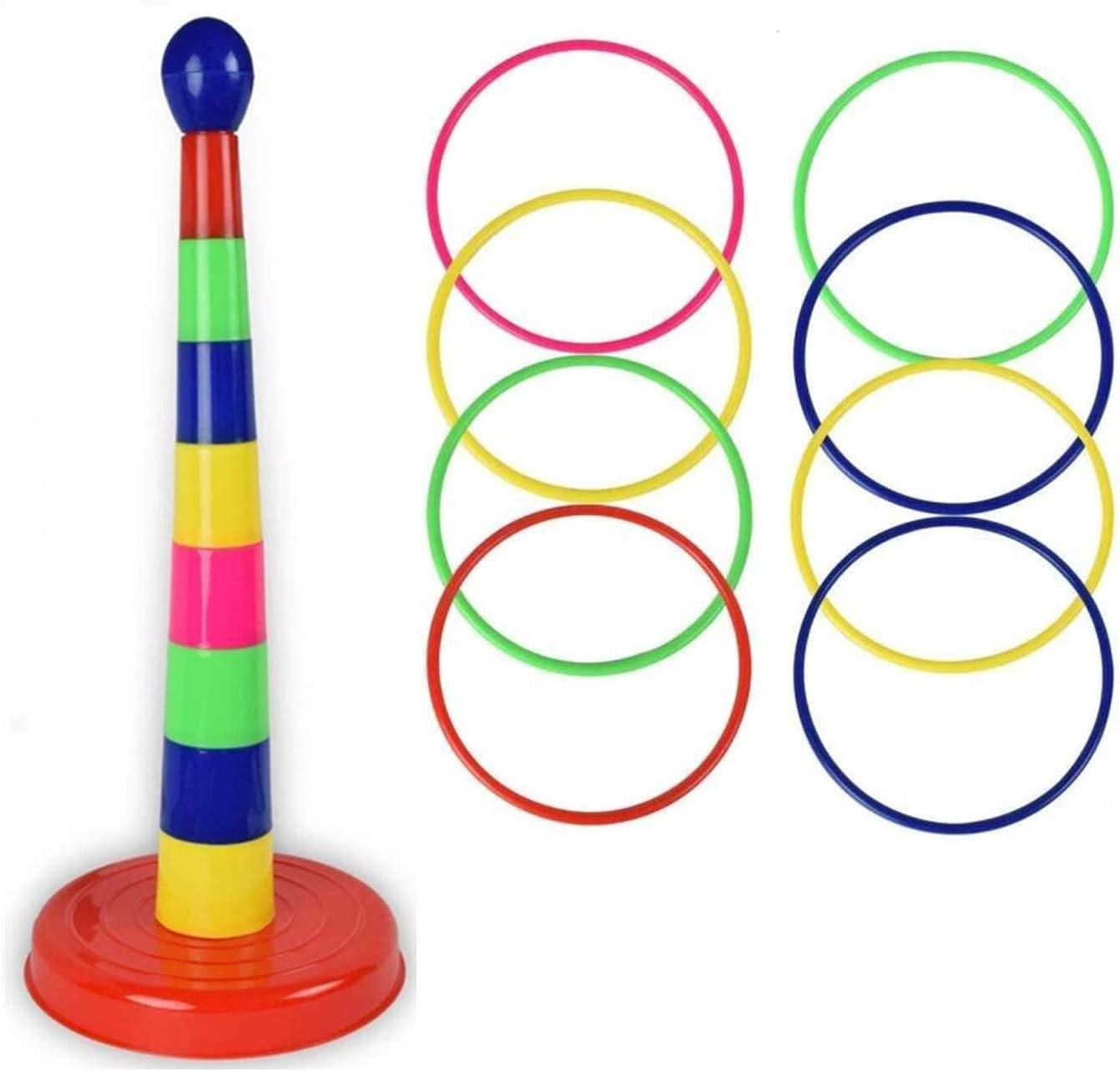 Ring Toss Game Outdoor Indoor Toss Rings Game Yard Games Lawn Games Carnival Games Ring Game for Kids Family Ring Toss Kids Outdoor Activities Ring Toss Rings Playground Toys Halloween Party Game