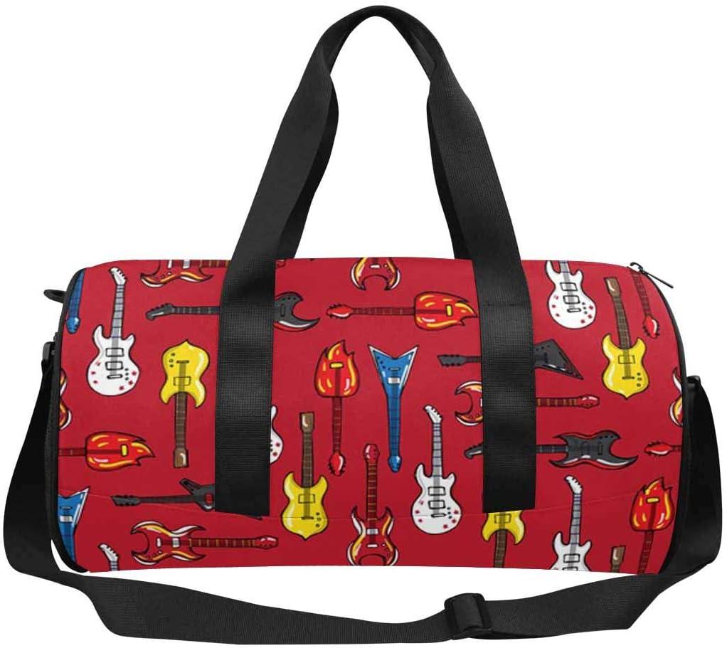 INTERESTPRINT Guitars Different Shapes Weekend Bag Travel Duffel Bag