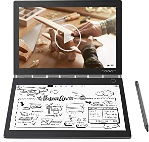 "2019 Lenovo Yoga Book C930 2-in-1 10.8"" QHD Touchscreen Laptop Computer, Intel Core i5-7Y54 up to 3.2GHz, 4GB RAM, 128GB SSD, USB-C, Fingerprint Reader, Active Pen, Touch E-Ink Keyboard, Windows 10"