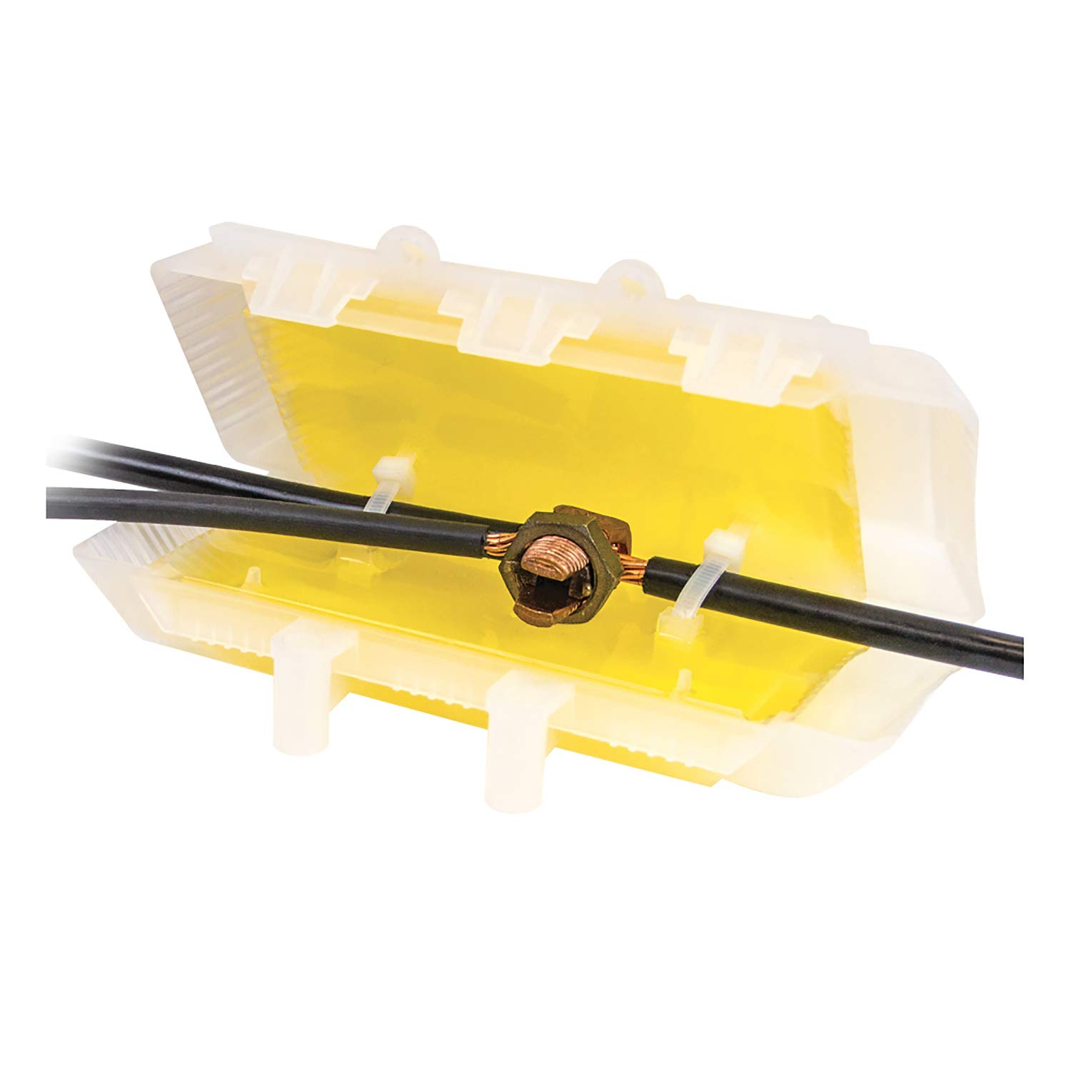 King Innovation 98010 DryConn Visilock wire connector, Yellow