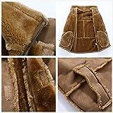 Allonly Men's Vintage Sheepskin Jacket Fur Leather