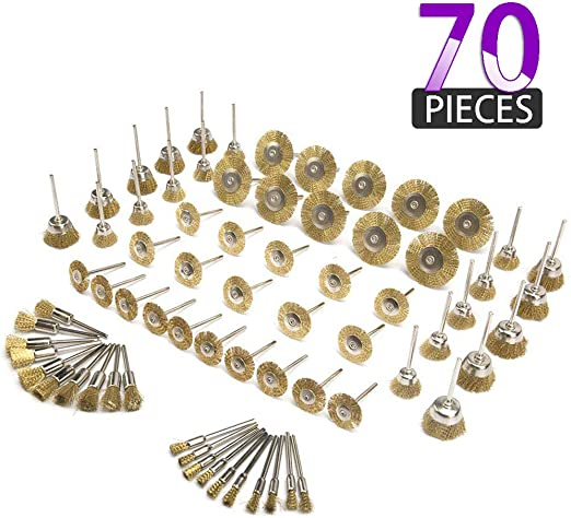 Grinder Rotary Tool 10pcs X Brass Wire Wheel Brushes Suitable For Drill