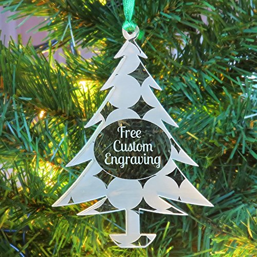 Customized Shatterproof Christmas Tree Ornaments 2019 | Custom Engraved Family Holiday Decorations Made in The USA - Personalized Bulb Pattern