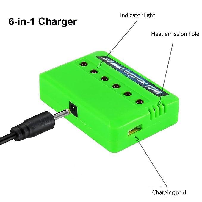 4Pcs 3.7 V 20 C haute vitesse 650 mAh 802540 Li-Po Batterie USB Chargeur Drone JST plug