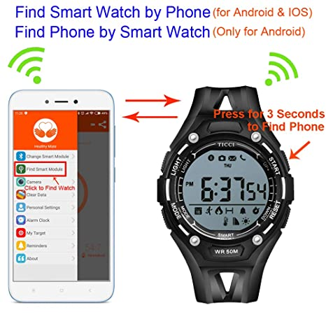 Amazon.com: T0006 - Reloj inteligente deportivo digital con ...