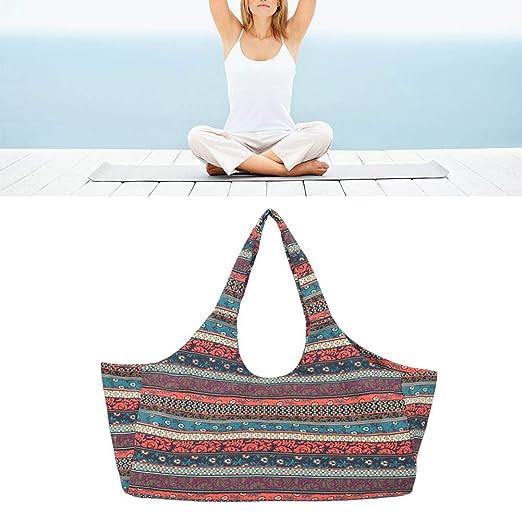 Brownrolly La Bolsa de Asas de Yoga Bohemio con Bolsillo ...