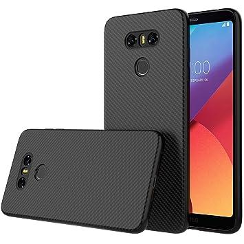 Peakally Funda LG G6, Fibra de Carbono Textura Fundas para LG G6 Suave TPU Carcasa Ligero Protección Case [Ultrafina Delgado] [Anti Fingerprints] ...