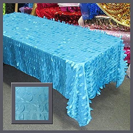 Tablecloth Leaf Taffeta 55 X 108 Rectangle Ivory