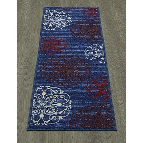 Cheap Ottomanson Studio Collection Modern Medallion Design Runner Rug, 20″ X 59″, Blue