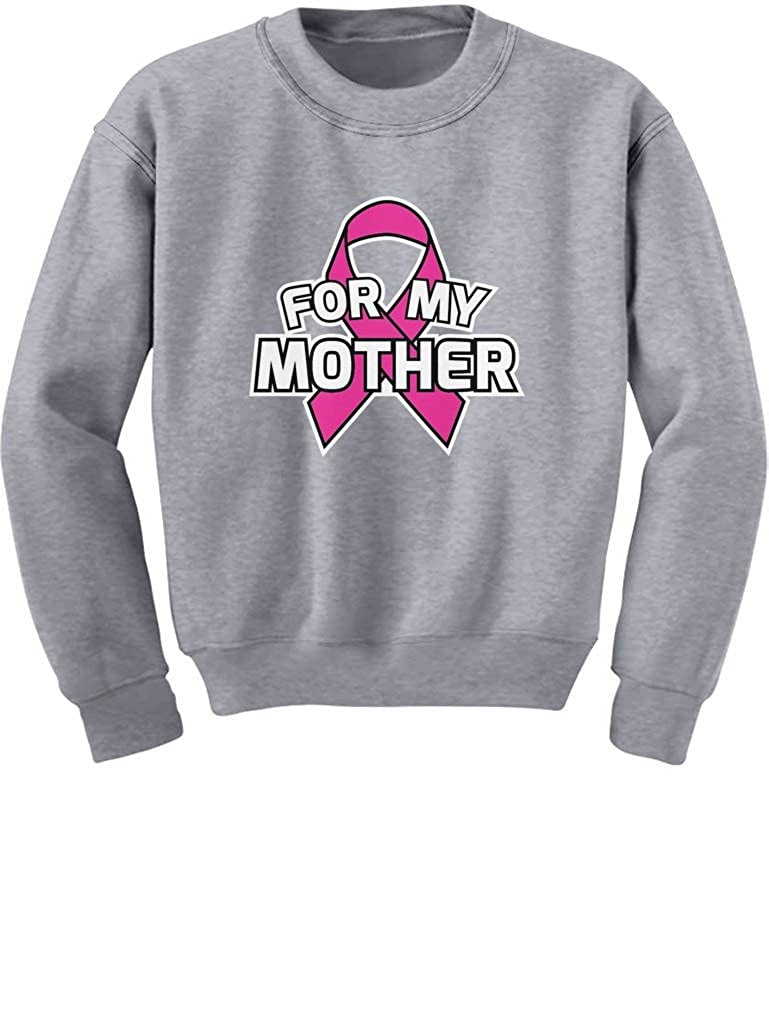 Breast Cancer Awareness Pink Ribbon for My Mother Youth Kids Sweatshirt