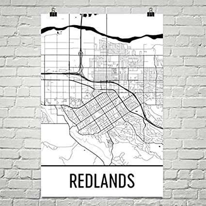 Redlands California Map Amazon.com: Redlands CA Map, Redlands Art, Redlands Print  Redlands California Map