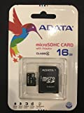 16GB microSDHC Class 4 Memory Card with Adapter microSD Series ADATA