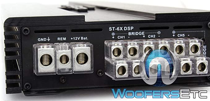 ZAPCO ST-6X DSP AMP 6-CHANNEL 900W RMS CLASS AB AMPLIFIER W// DSP CAR AUDIO NEW