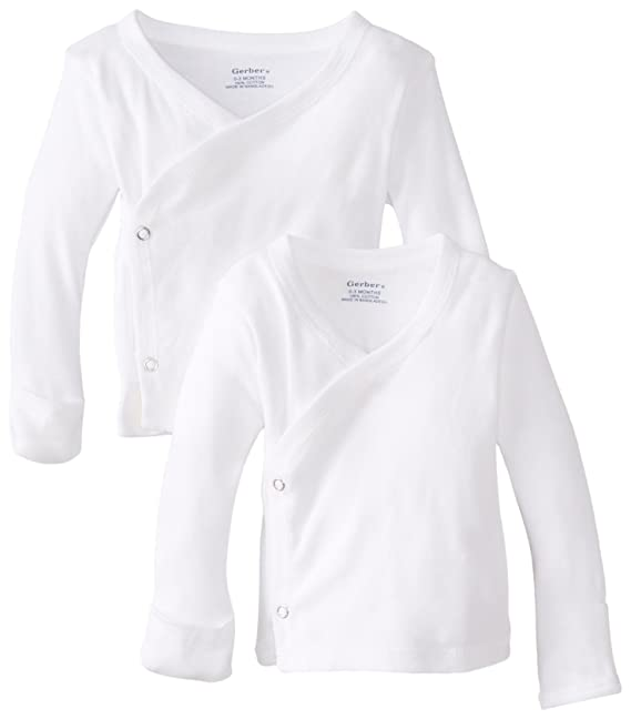 Amazon.com: Gerber Unisex Baby 2 Pack Long-Sleeve Shirts with Side ...
