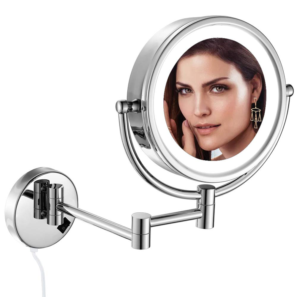 GURUN 10X Lighted Wall Mounted Makeup Mirror Reviews
