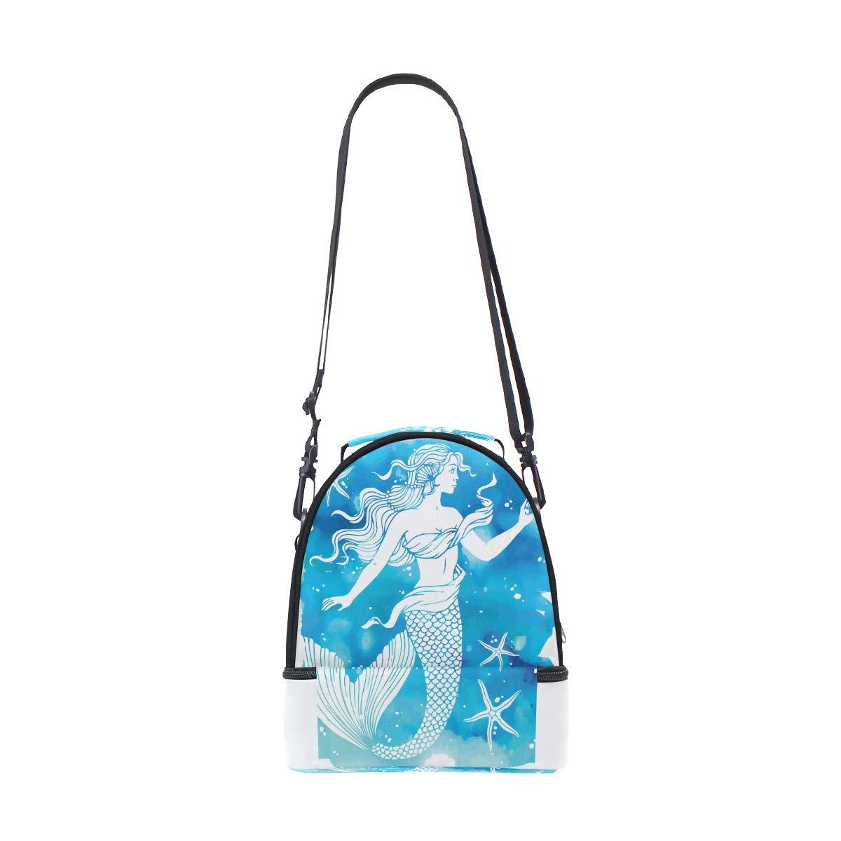 sac isotherme Fishstar bleu double couche portable /épaule /étanche isotherme avec fermeture /éclair pour l/école travail pique-nique Superbe sac /à d/éjeuner en forme de sir/ène