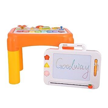 Goolsky GOODWAY DOVE Mesa de aprendizaje para bebés con mesa de ...