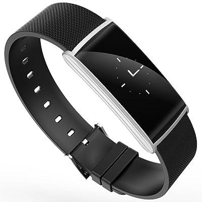 DUWIN Bracelet Smart, Fitness imperméable d'activité Bracelet intelligent avec écran OLED Écran tactile, Bluetooth 4.0 Podomètre, Bracelet, Rappel de Sommeil, appel/MSM pour iOS , Android