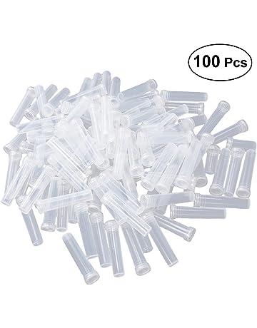healifty Agua Flores tubos tubos de ensayo de plástico transparente Vial Con tapones para floristas –