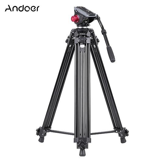 34 opinioni per Andoer Pro Alluminio Lega Telecamera Video Treppiedi Panorama Fluido Idraulico
