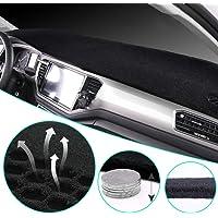 Reduce Hazardous Windshield Glare AutoTech Zone Dashboard Protector Dash Mat Sun Cover for 2015-2018 Honda FIT