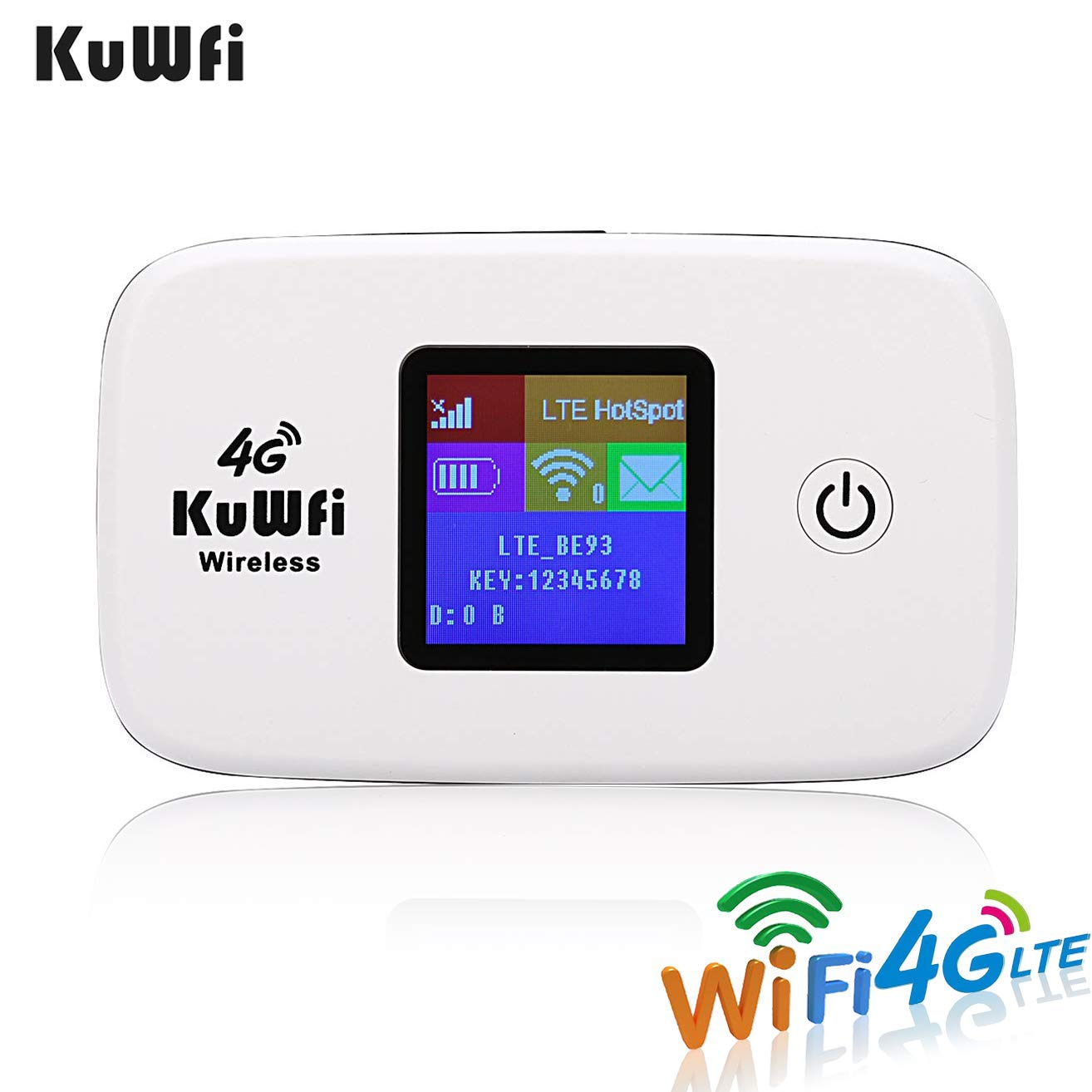 KuWFi Unlocked Travel Partner 4G LTE Wireless 4G Router with SIM Card Slot  Support LTE FDD B1/B3 TDD B41 Work with Sprint in US and Europe Caribbean
