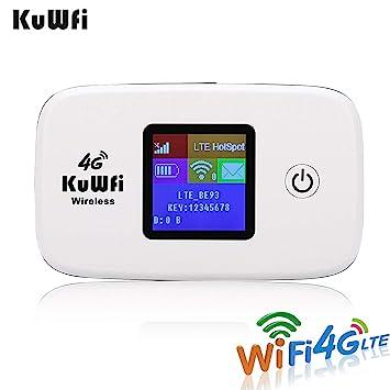 Amazon.com: KuWFi - Router inalámbrico 4G para viajes, 4G ...