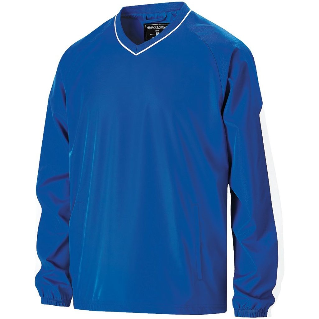 Holloway Youth Bionic Pullover Windshirt (Medium, Royal/White) by Holloway