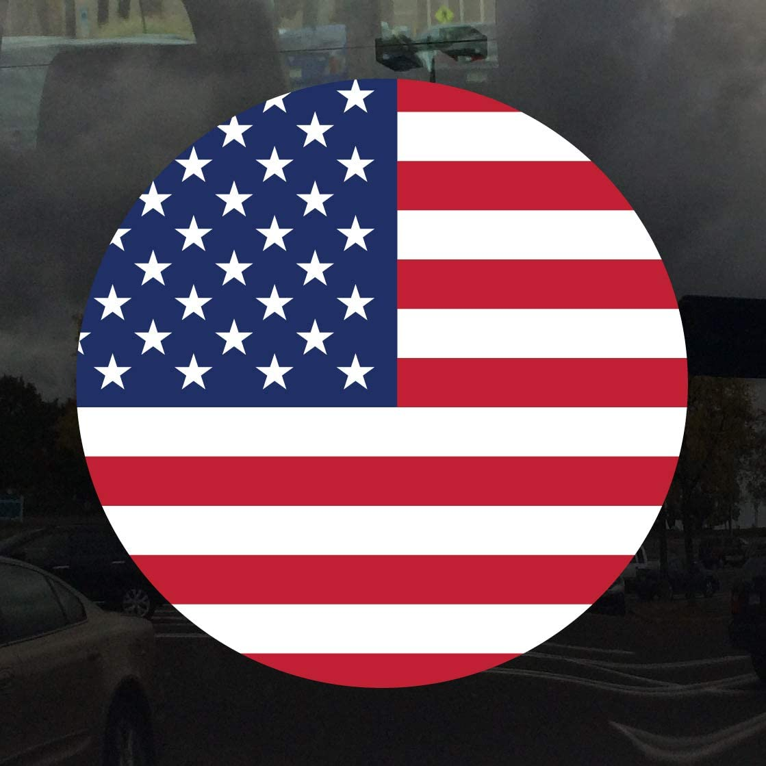 American Flag Stickers Flag Decals Round Indoor Outdoor 4 Circles America USA US