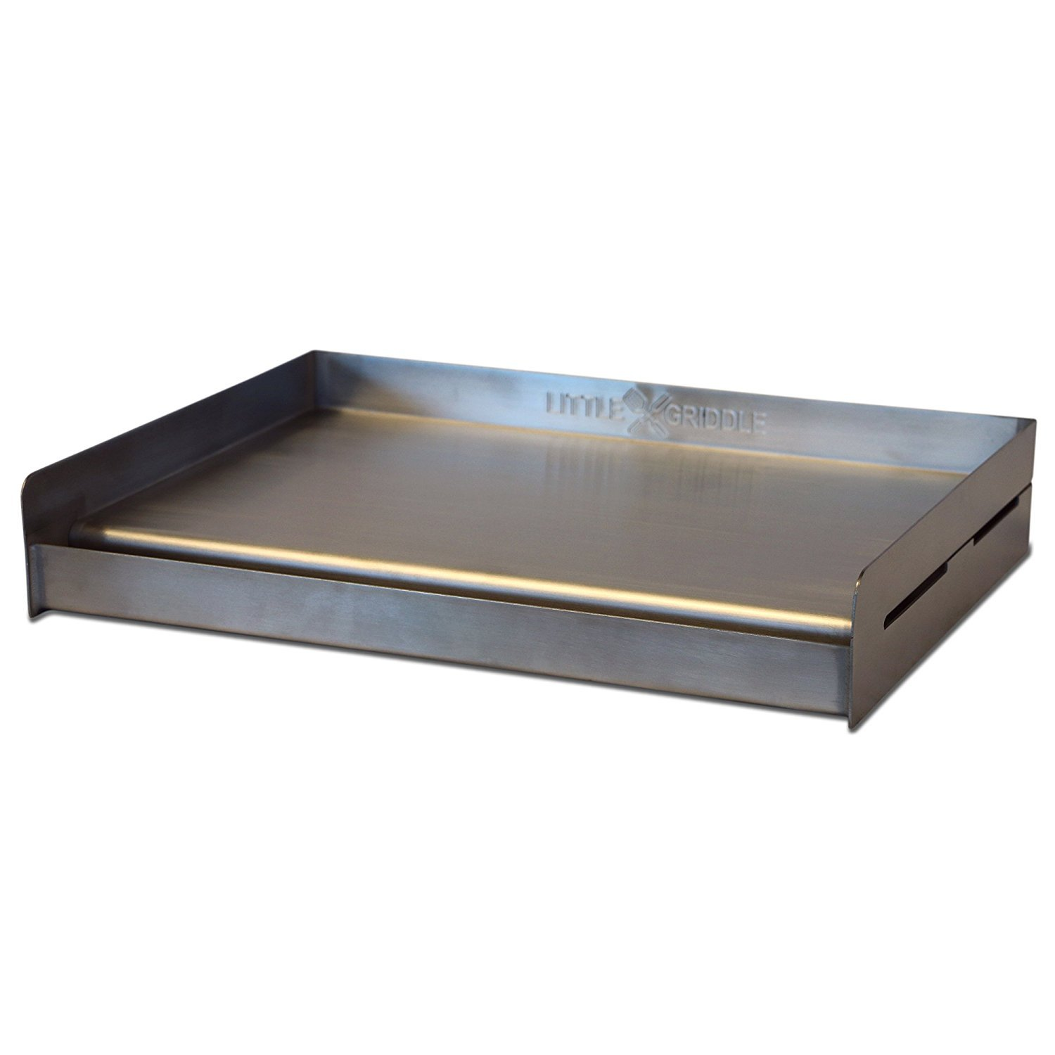 Little Griddle SQ180 Universal Griddle for BBQ Grills, Stainless (Formerly the Sizzle-Q) (Pack of 2) by Little Griddle (Image #4)