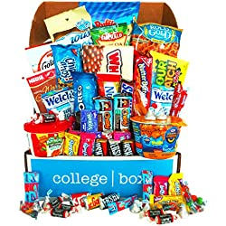 Deluxe Snacks Care Package (45 Count) - Chips, Cookies, Candy Assortment Bundle Gift Pack and Variety Box - CollegeBox - Valentine's Day Gift!