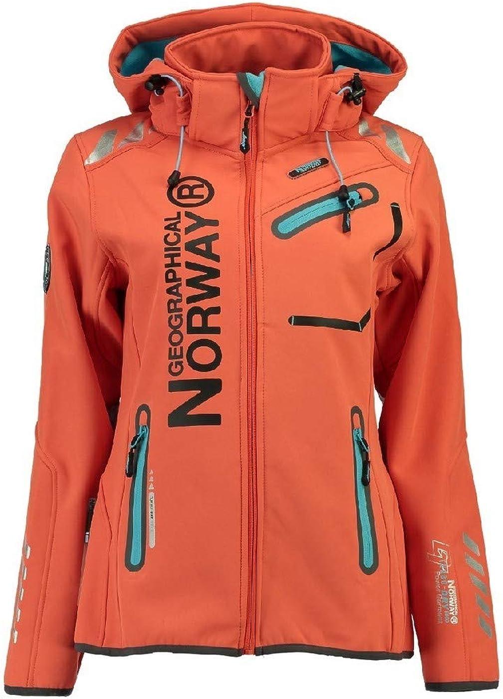 Geographical Norway - Chaqueta cortavientos impermeable multifunción para mujer, para el exterior