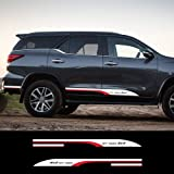 MVMTVT 2PCS ملصق سيارة 4x4 Off Road Styling Car Side Door Cool Graphic Vinyl for Toyota FORTUNER Auto Car Accessories…
