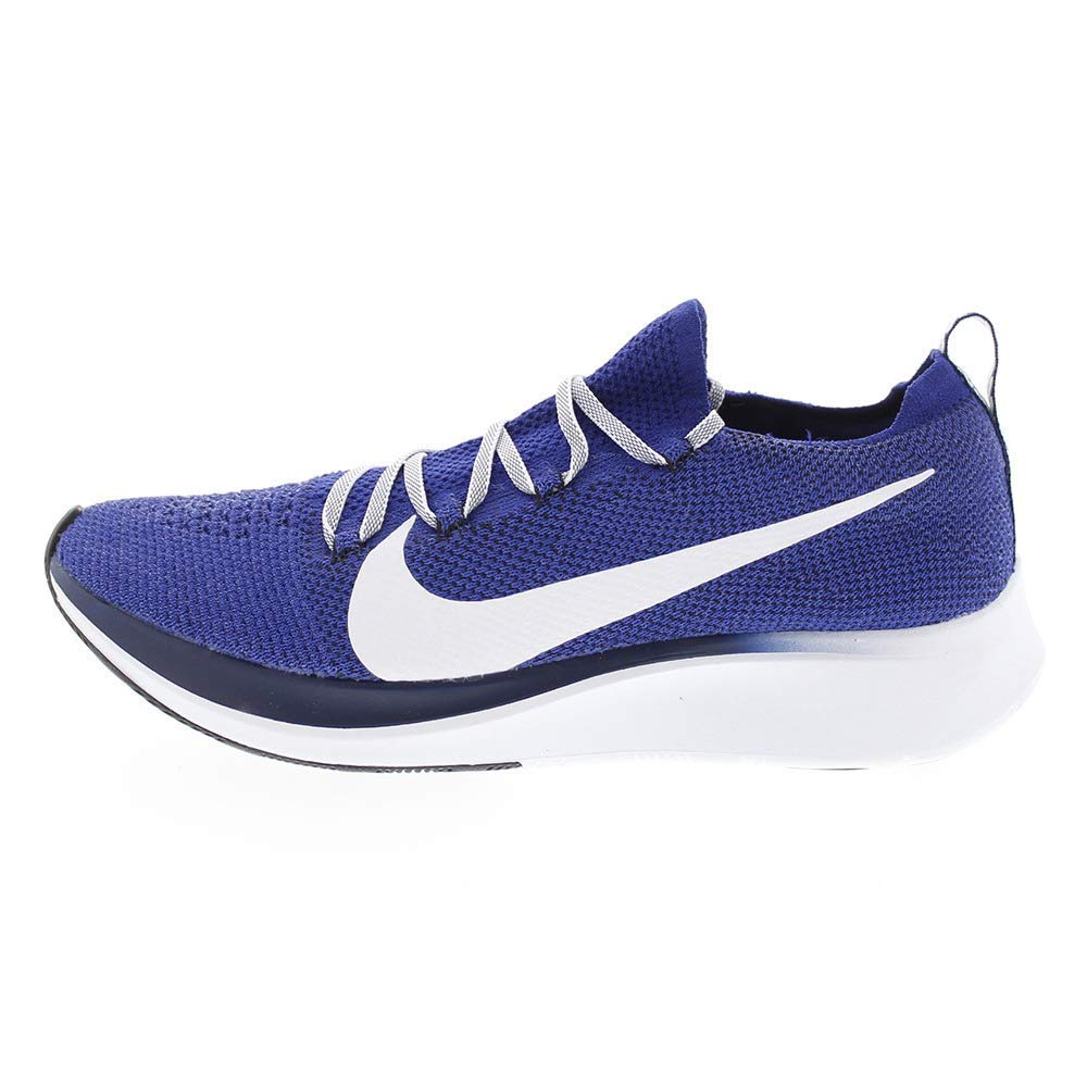 Nike Zoom Fly Flyknit Men's Running Shoe DEEP Royal/White-Blue Void Size 8