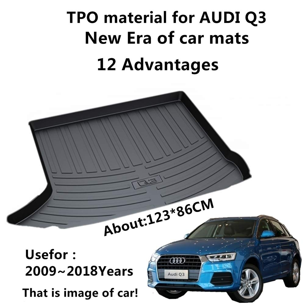 Amazon Com Aunazz Car Mat For Audi Q3 2009 2018 Years Rubber Rear
