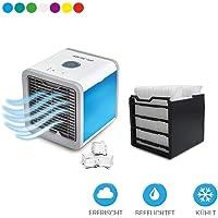 Mediashop Arctic Air Set mit Filter inkl.1 Ersatzfilter Verdunstungsgerät Luftkühler ✓ USB Anschluß ✓ Netzstecker ✓ Hydro-Chill Technologie ✓ 3 Kühlstufen ✓ 7 Stimmungslichter ✓ Das Original