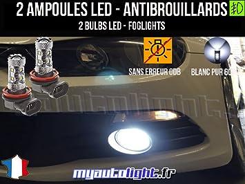 Bombillas LEDs antibrouillards para Volkswagen Scirocco III: Amazon.es: Coche y moto